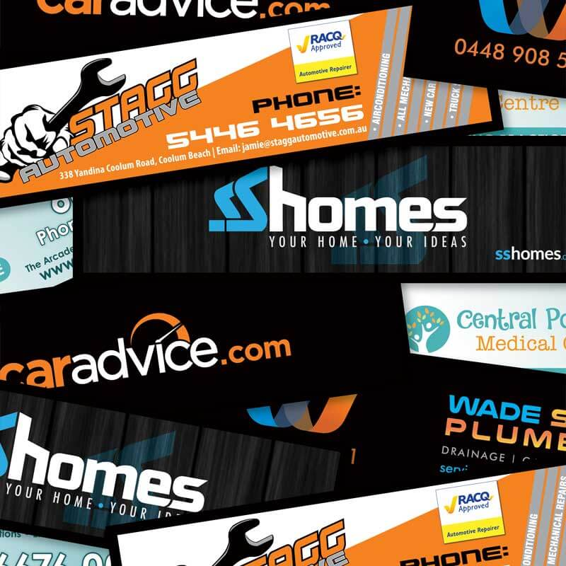 Advertising Custom Bar Runners with Various Logos printed on the the bar runners