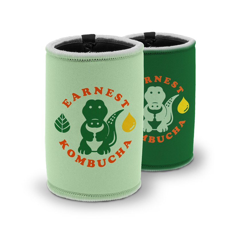Stubby Coolers with Stitching and Tape Seam