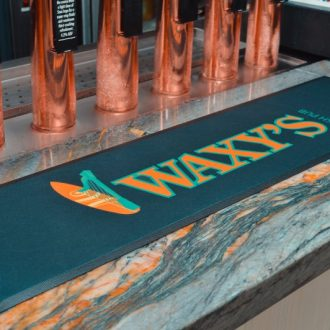Waxy's Irish Pub Printed Bar Runner on Microfibre