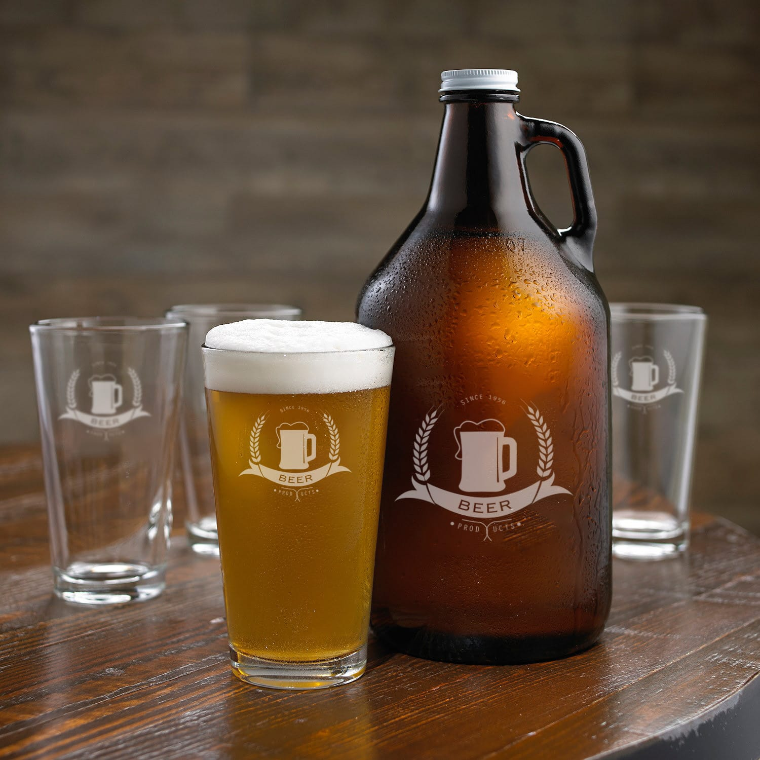 Beer Glasses and Growler