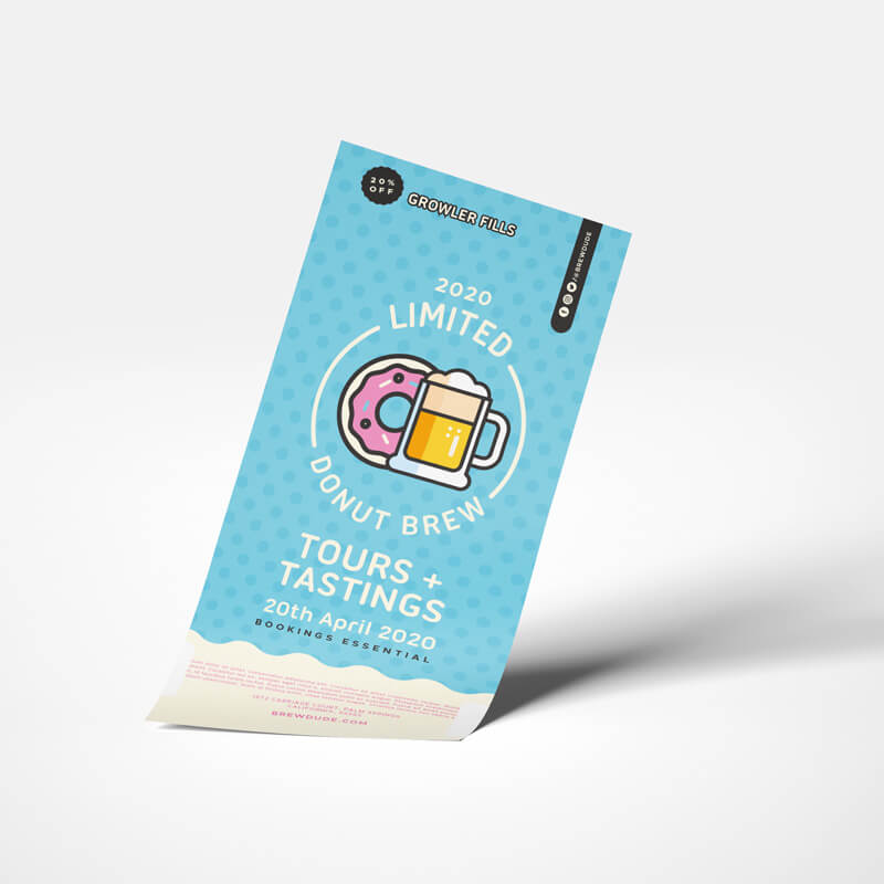 Single Sided Printed Flyer DL Size for Craft Brewery