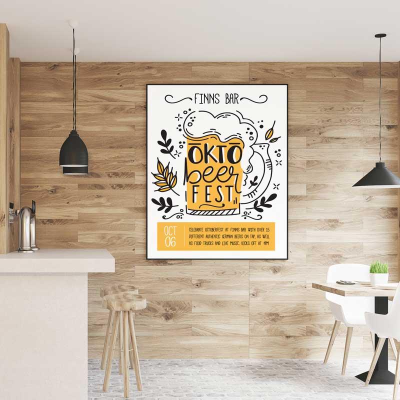 Custom printed digital poster for advertising Beer Festival