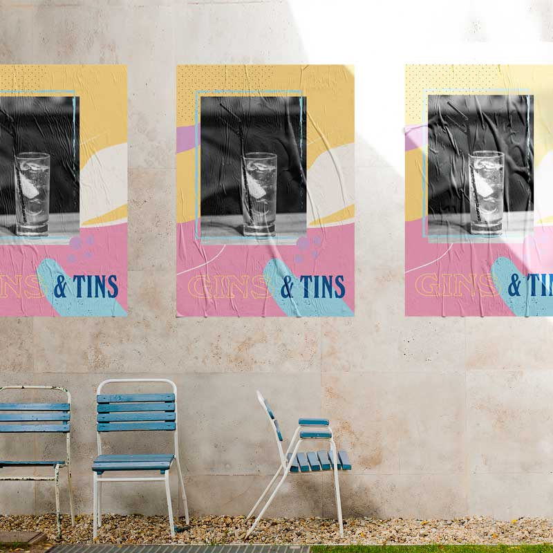 Custom digital printed outdoor posters