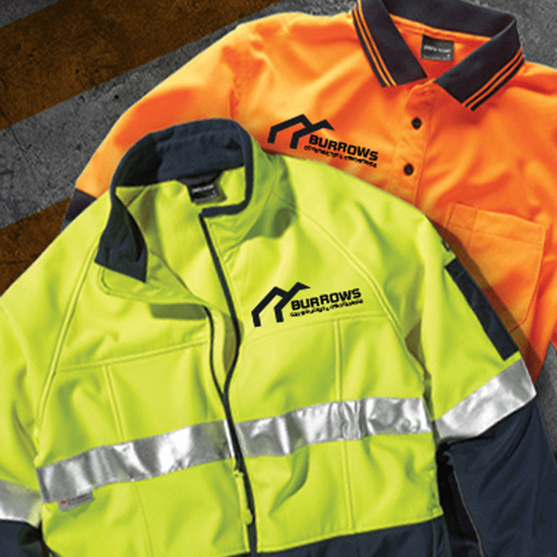 custom printed hi-vis workwear apparel uniform