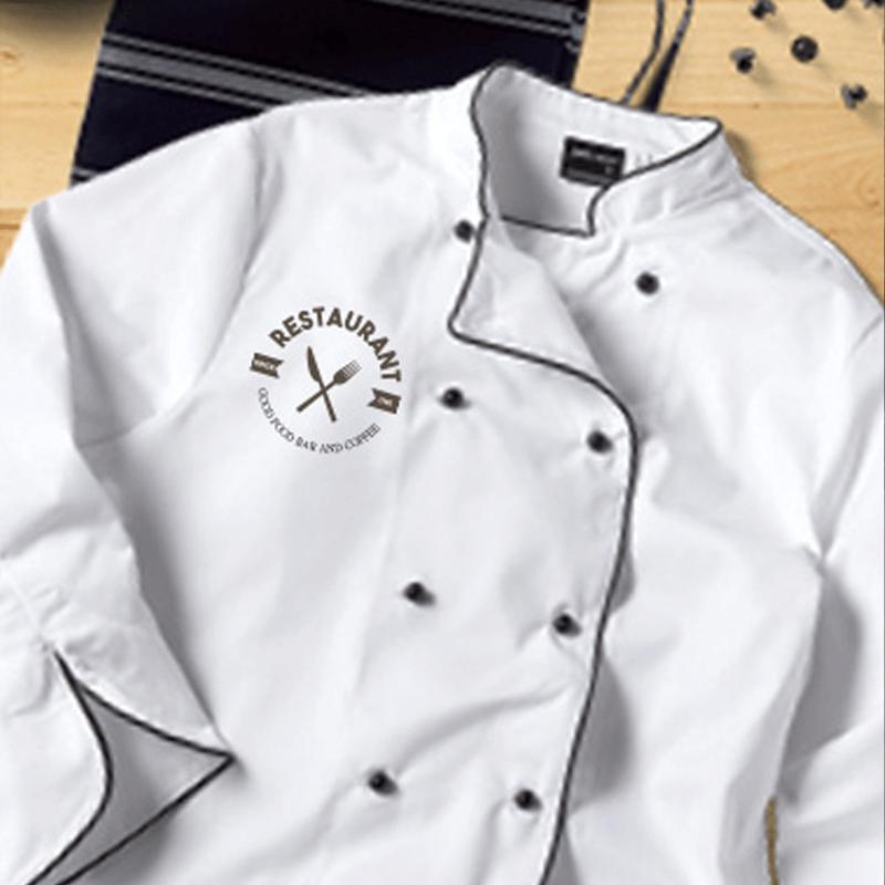 Custom printed hospitality uniform