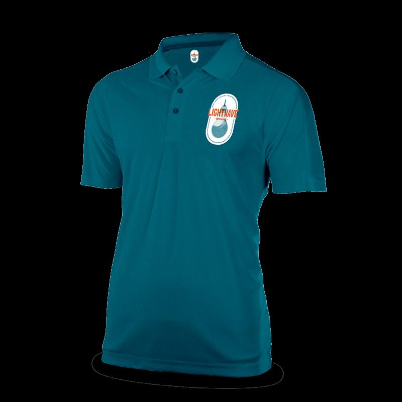 Custom made shirt uniform with company logo on front