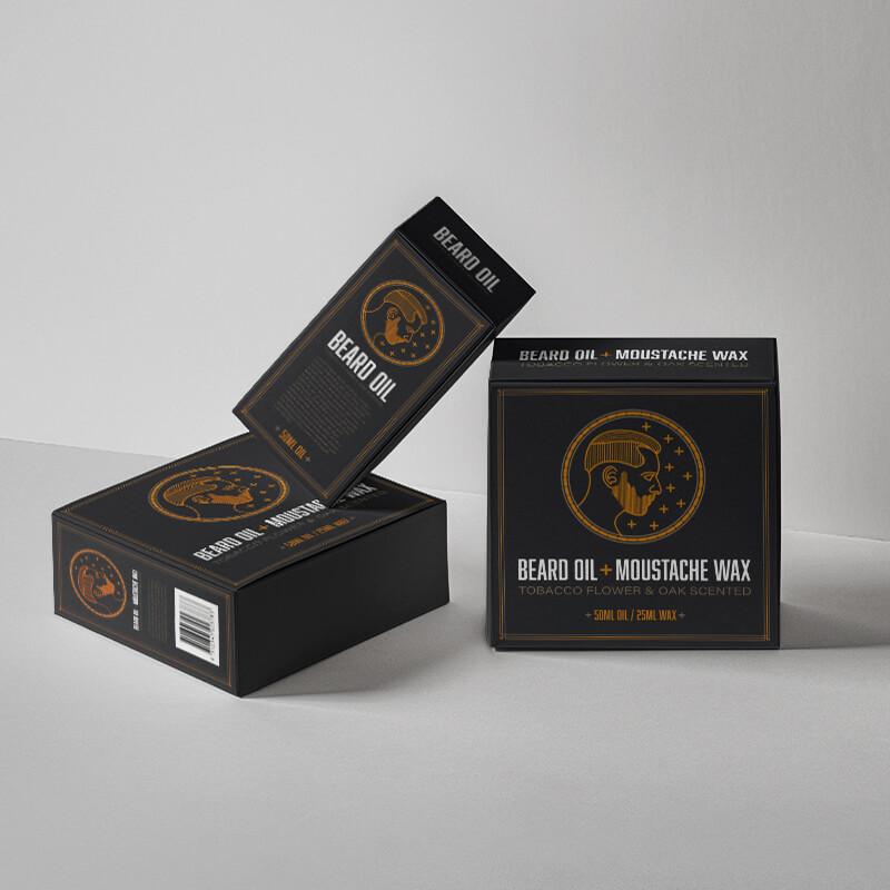 Custom Printed Beard Oil Packaging Box