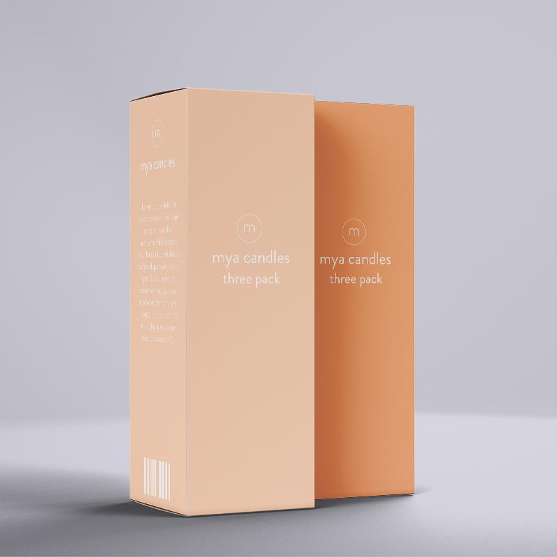Custom printed candle box packaging
