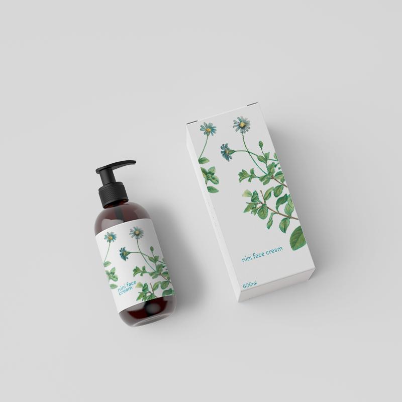 Face Cream Beauty Product Packaging, Custom printed Box