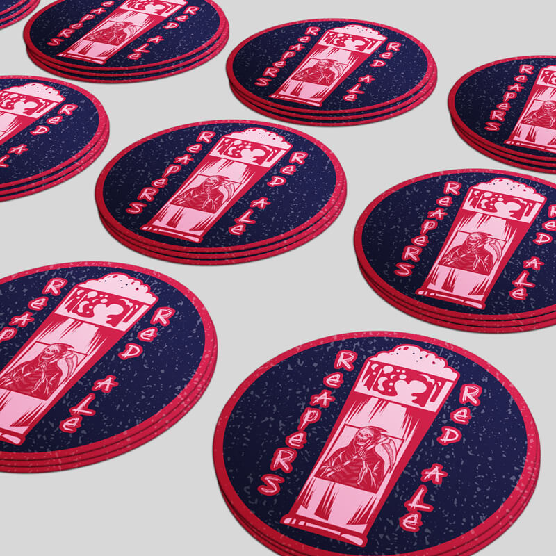 Custom Printed Round Stickers for Brewery