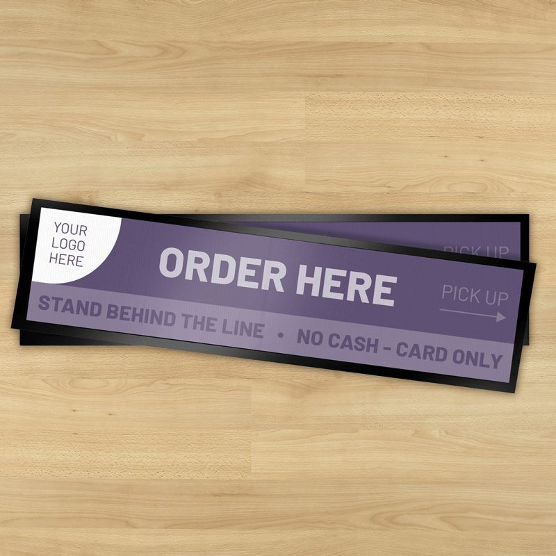 Order Here Social distancing bar runner