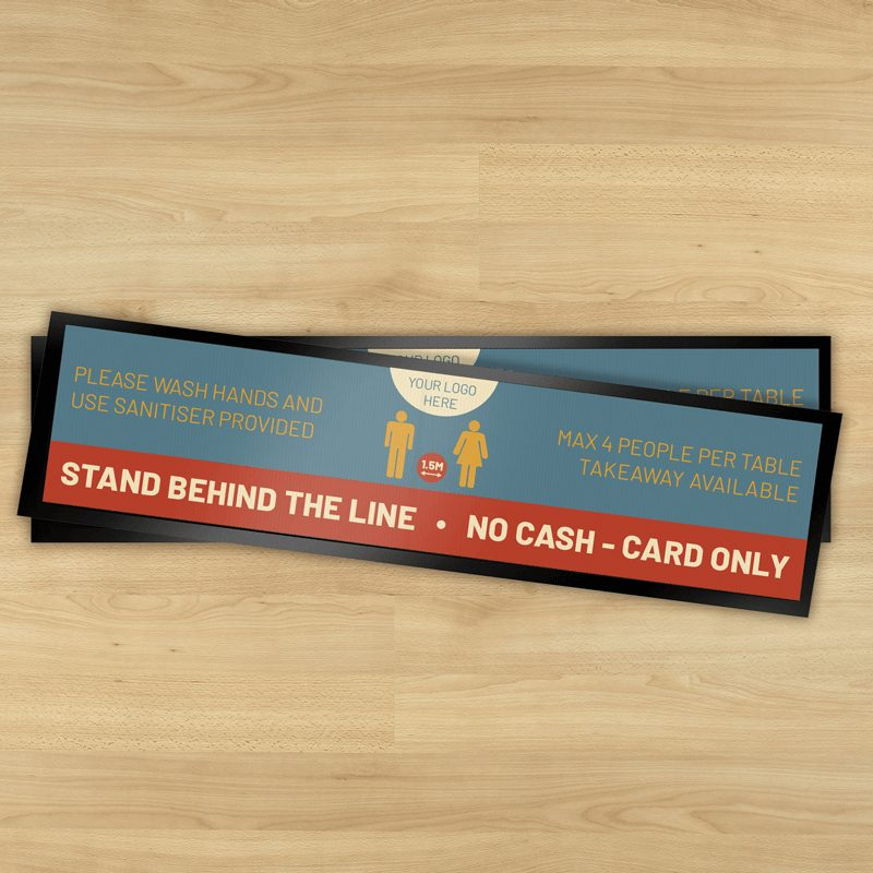 Stand Behind the Line social distancing bar runner