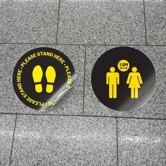 Please Stand Here 1.5m Apart Social Distancing Floor Stickers