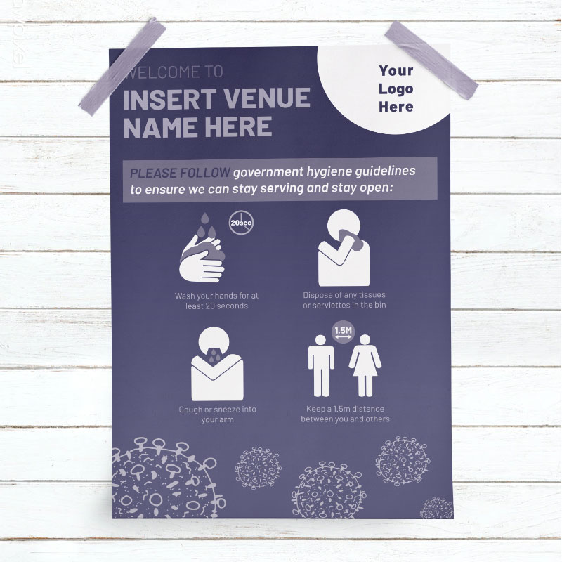 Covid-19 Public Hygiene Guidelines Poster