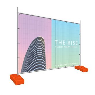 Custom Printed Banner Mesh Fencing Display for temporary fence signage