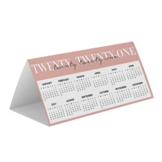 DL Table Top Custom Printed Tent Card Calendar