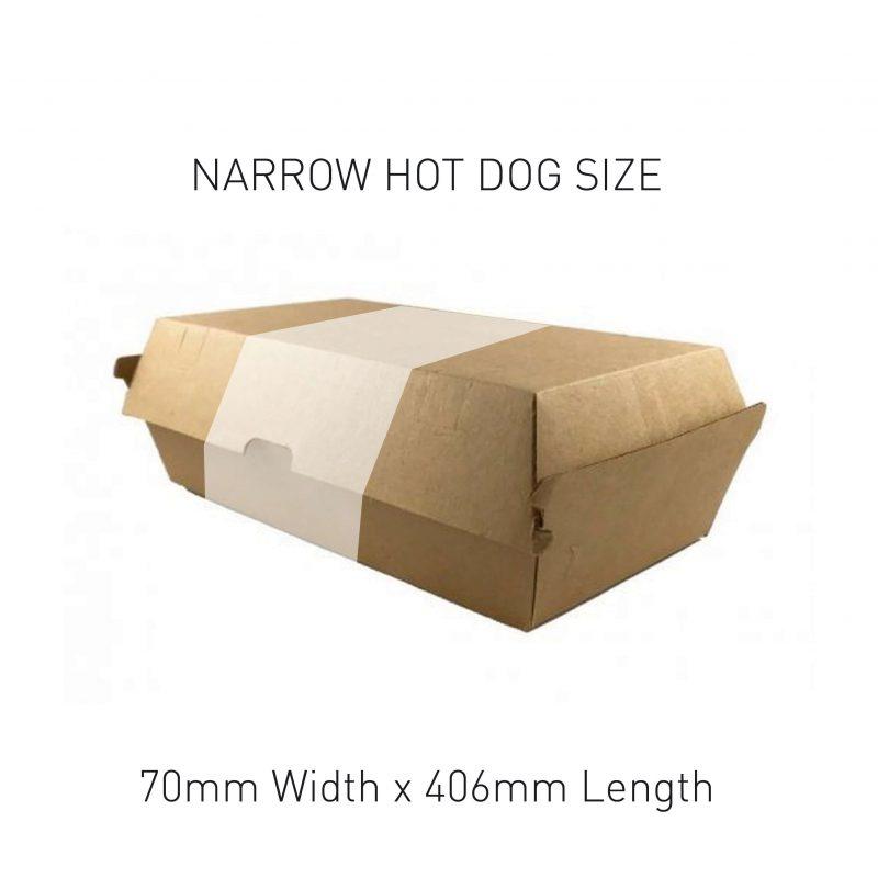 Narrow Hot Dog Box Sleeve Sizing