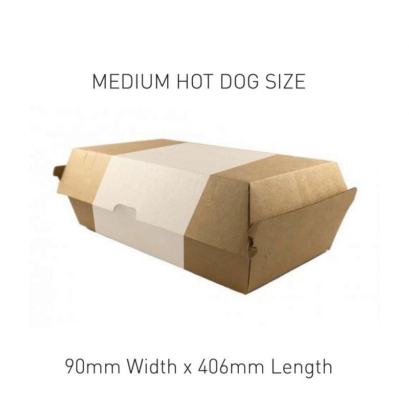 Medium Hot Dog Box Sleeve Sizing