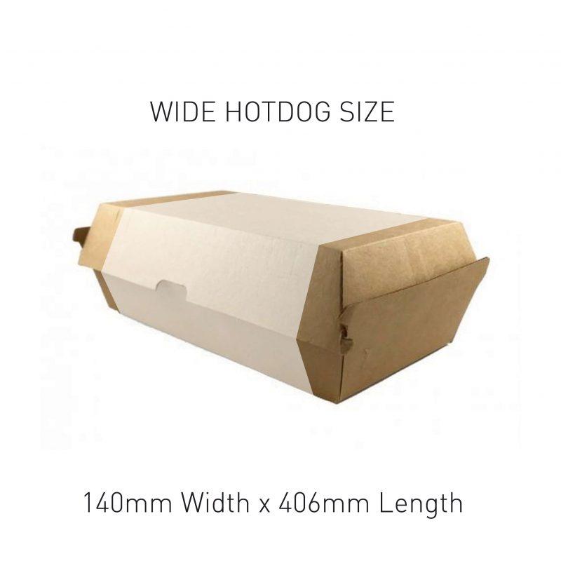 Wide Hot Dog Box Sleeve Sizing