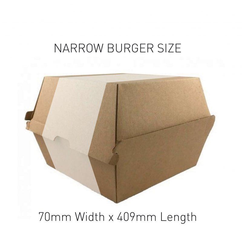 Narrow Burger Box Sleeve Sizing