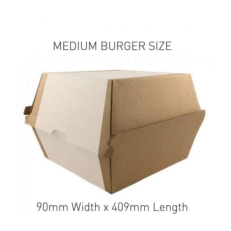 Medium Burger Box Sleeve Sizing
