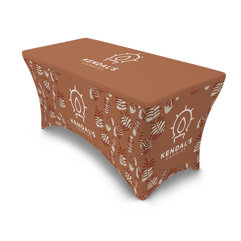 Custom Printed four sided stretchy table cover