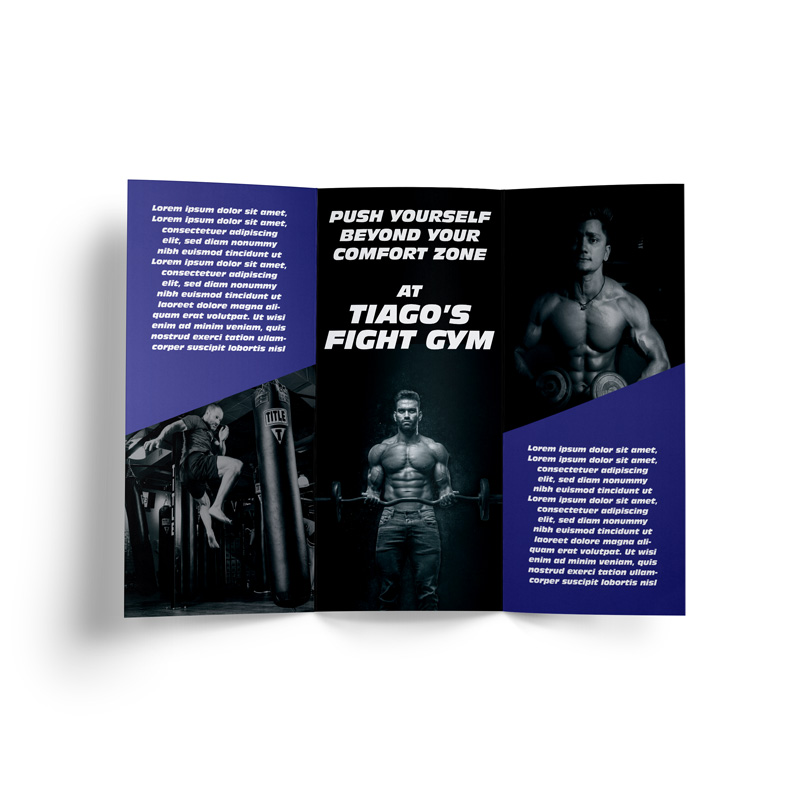 Custom Printed DL Trifold Brochure