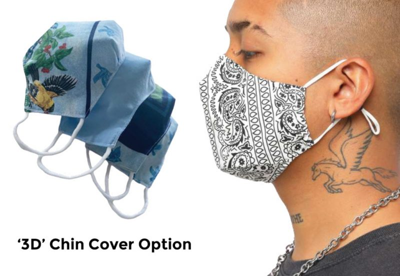 Custom Branded Face Mask with 3D Chin Cover Option