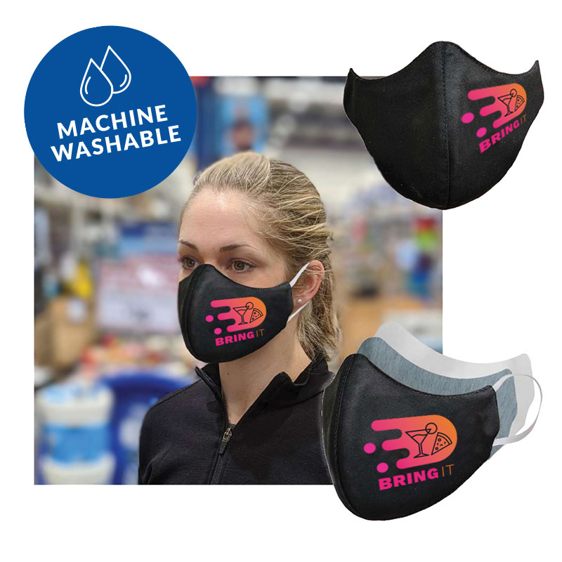 Custom Branded Face Masks - Machine Washable with your logo